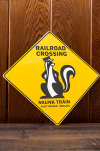 Skunk Crossing Road Sign