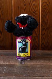 Canned Plush Skunk