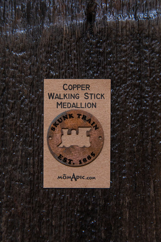 Skunk Train Walking Stick Medallion