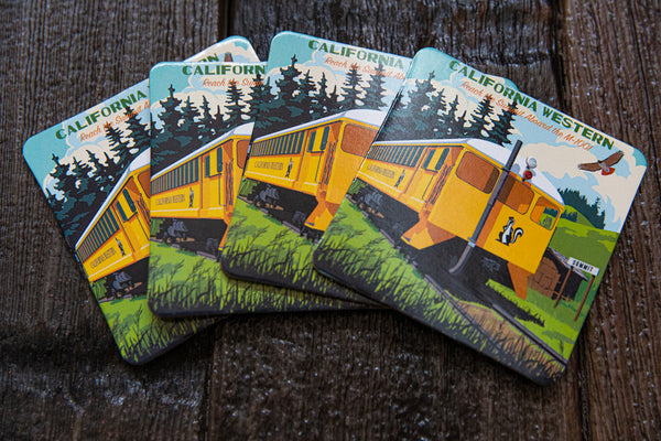 Retro Art Eco Coasters Sets