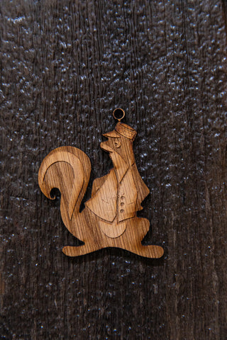 Mr. Skunk Silhouette Wooden Magnet