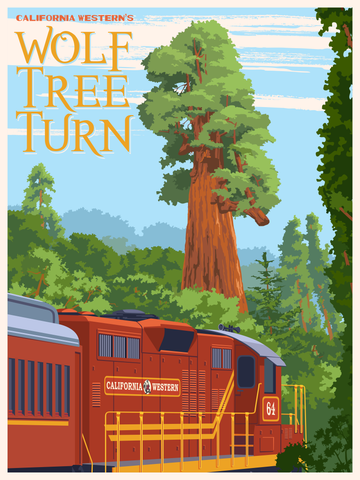 Wolf Tree Turn Poster