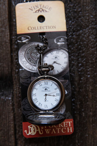 Skunk Train Pewter Pocket Watch