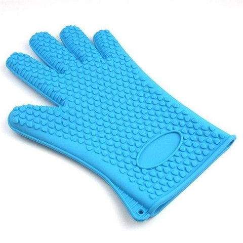 Firefree Silicone Heat Resistant Gloves - Blue - Home & Kitchen