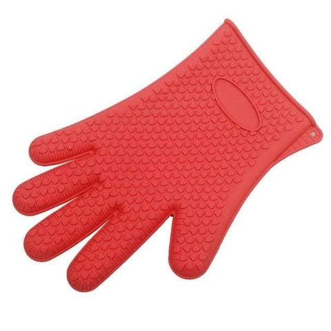 Firefree Silicone Heat Resistant Gloves - Red - Home & Kitchen