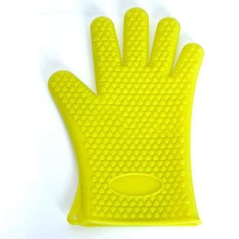 Firefree Silicone Heat Resistant Gloves - Yellow - Home & Kitchen