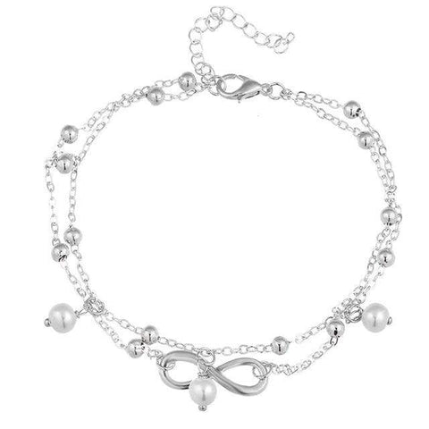 If Me Fashion Infinity Charms Anklets - Bjdy051Silver - Clothing