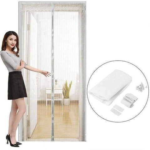 Magnetic Portable Magic Mesh Screen Door - White / 80 X 210Cm - Home & Kitchen
