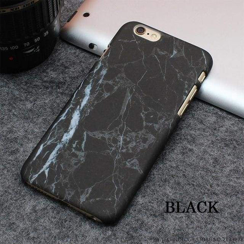 Rockwolf Marble Iphone Cases - Black / For Iphone 5 5S Se - Iphone