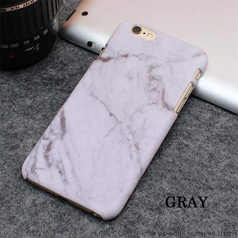 Rockwolf Marble Iphone Cases - Gray / For Iphone 5 5S Se - Iphone