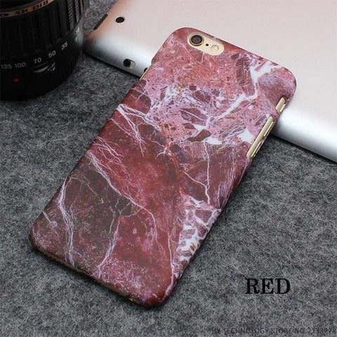 Rockwolf Marble Iphone Cases - Red / For Iphone 5 5S Se - Iphone