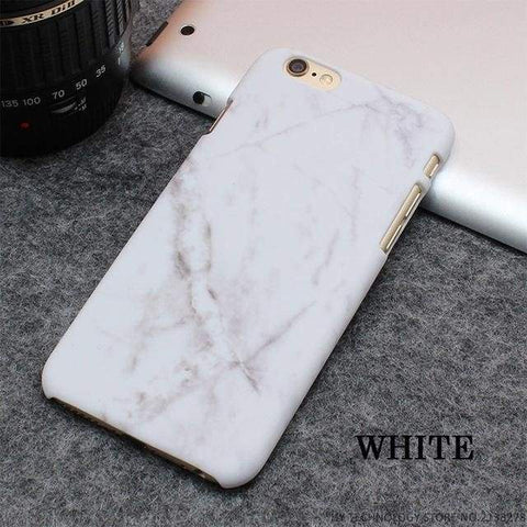 Rockwolf Marble Iphone Cases - White / For Iphone 5 5S Se - Iphone