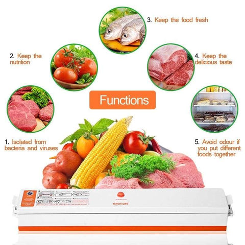 Tintonlife Food Vacuum Sealer With 15 Packaging Bags - Home & Kitchen