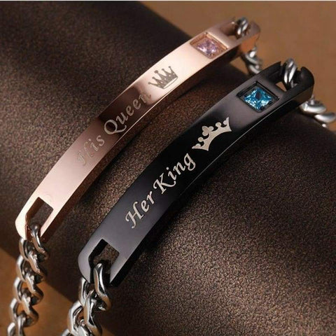 Unique Stainless Steel Bracelets For Couples - Both - Men