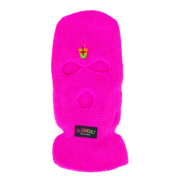 Not For Skiing Mask Lime Pink