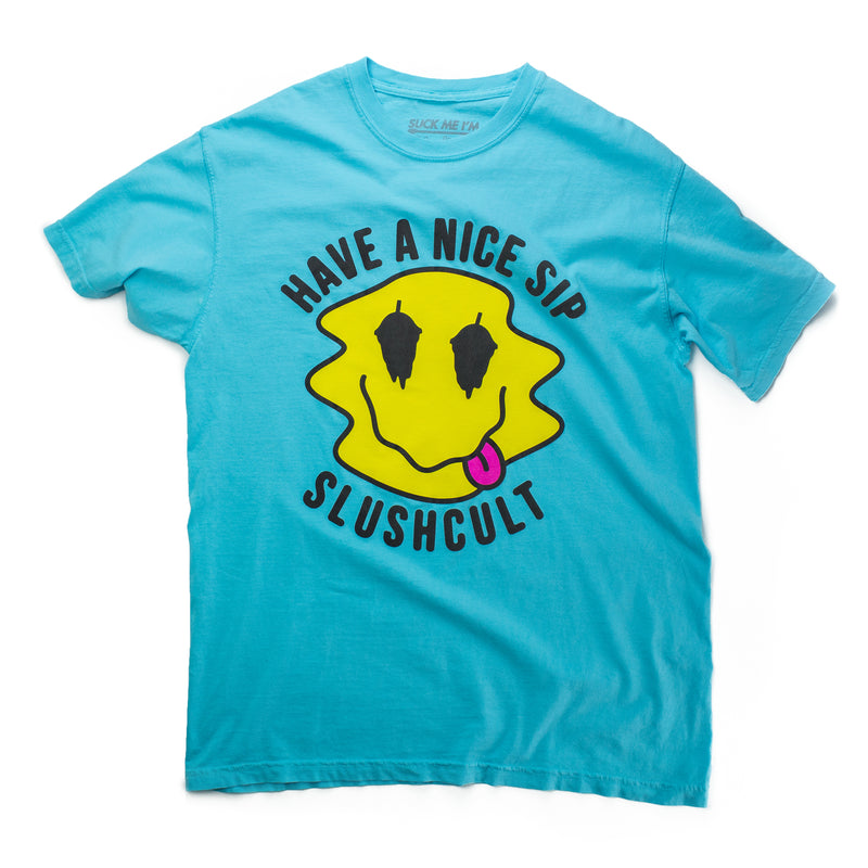 Have A Nice Sip Tee Blue