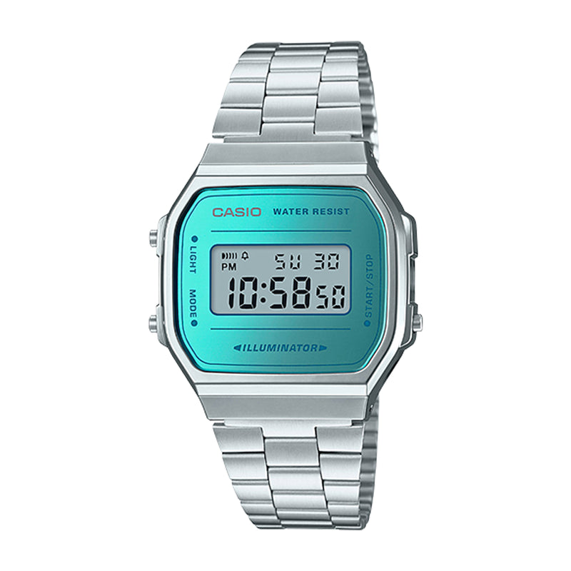 Casio Vintage Silver/Teal Digital