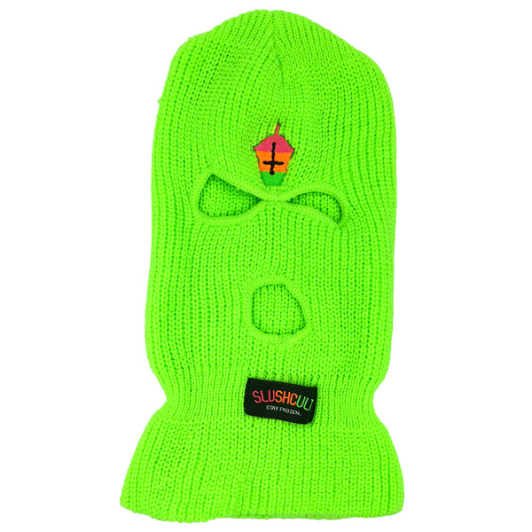 Not For Skiing Mask Lime Green