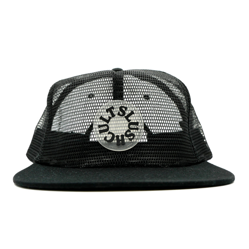 Full Circle Mesh 5 Panel Hat Black