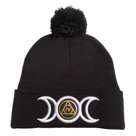 Triple Goddess Pom-pom Toque