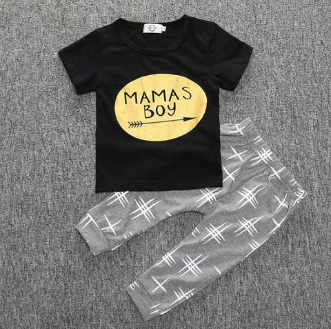 Mama's Golden Boy Shirt and Pants (Size 3M to 4T)