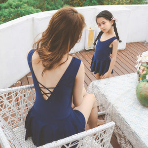 Navy Swimsuit Dress (Child Size2T to 10 Years)