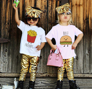 Unisex Burger and Fries Coordinating Shirts