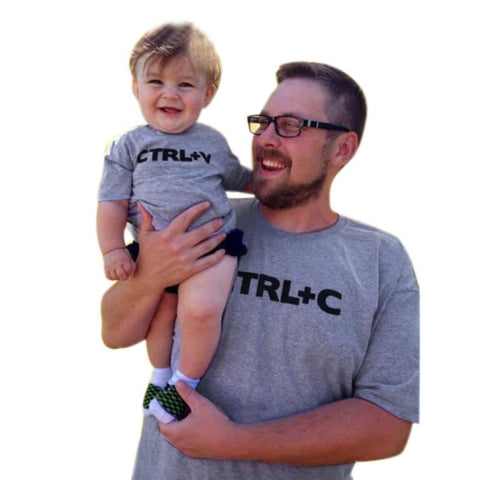 Daddy & Kid Copy Paste T Shirt (Child Size 2T to 5 Years)