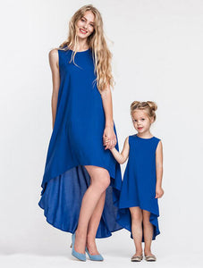 Blue High Low Hem Dress (Child Size 12M to 13 Years)