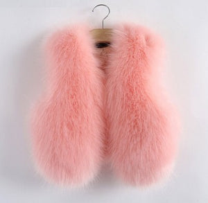 Pink Faux Fur Mother and Daughter Matching Vests (Child Size 6M to 10 Years)