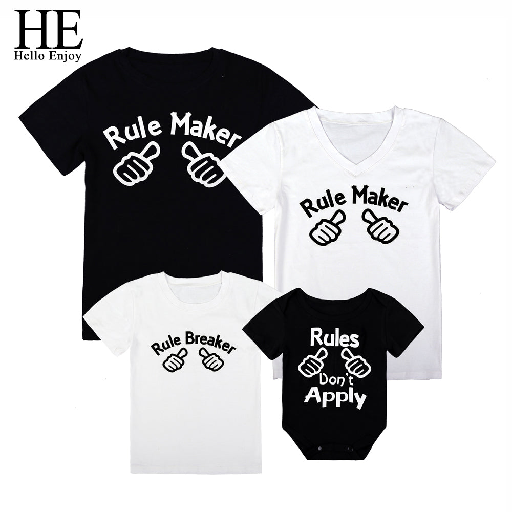 6d12217c0 Family Rules Matching Shirts (Child Size 3M to 6 Years) – The Mini Mia