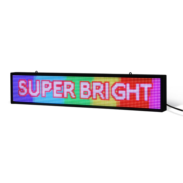 "8 x 27"" / 39"" / 51"" Full-color LED Scrolling Sign for Store Windows and Semi-outdoor"