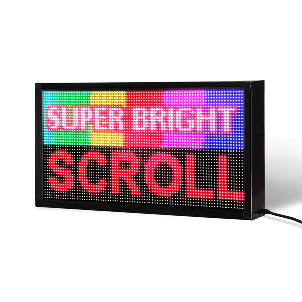 "14 x 27"" / 39"" / 51"" Full-color LED Scrolling Sign for Store Windows and Semi-outdoor"