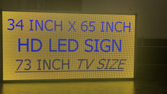 LED Programmable TV for Store Windows (Visible at any time facing street, P5 Display Screen, Wireless Control)