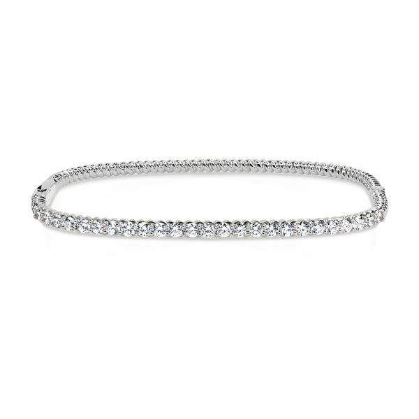 TWIST RECTANGLE HALF INFINITY BANGLE