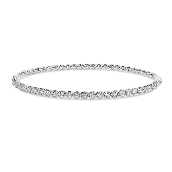 TWIST BRAID HALF INFINITY BANGLE