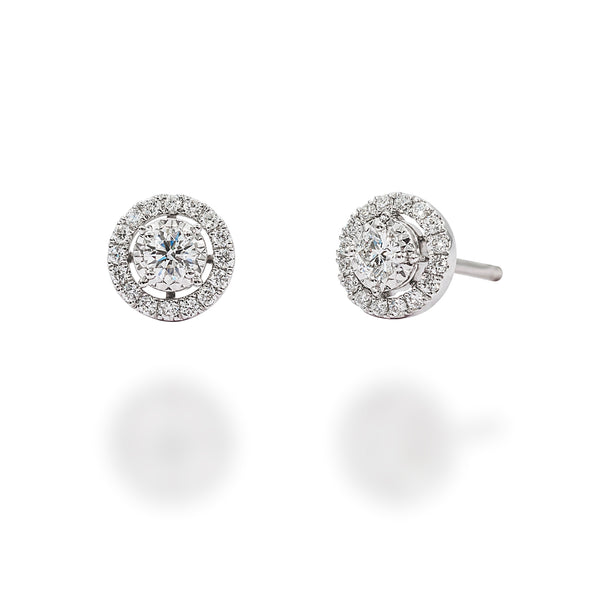 FLARE EARRINGS SURROUNDED WITH DIAMONDS