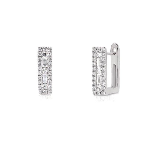PINNACLE EARRINGS SURROUNDED WITH DIAMONDS