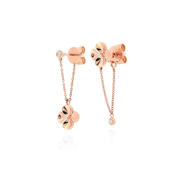 Fleurs Drop Chain Earrings