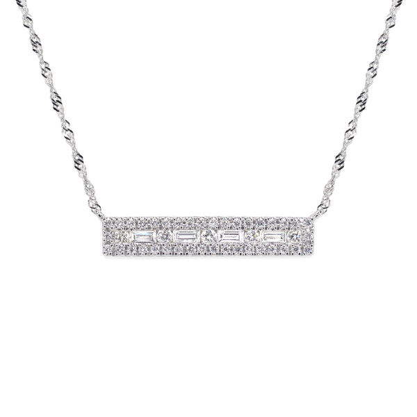 PINNACLE NECKLACE SURROUNDED WITH DIAMONDS