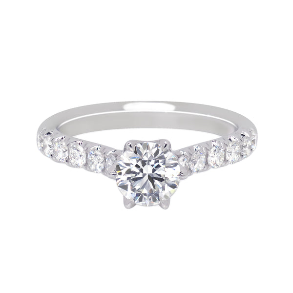 LIFETIME SPARK EAGAGEMENT RING WITH A PAVÉ DIAMOND