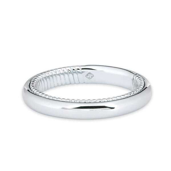 CURVE WOMEN WEDDING BAND WITH TWIST INSIDE BAND
