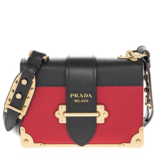 492f715c625f04 Prada Cahier Bag Red Black Red Black – I Want Women's Store 5
