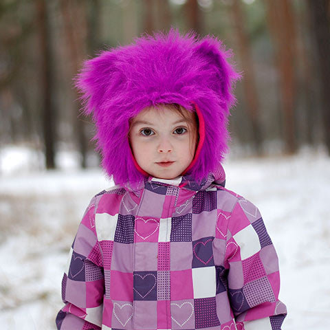 cute kid wearing ski jacket