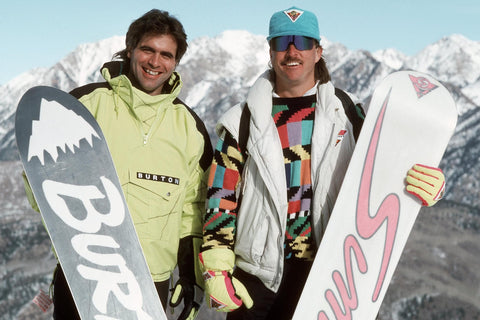 who invented the snowboard - Tom Sims or Jake Burton?