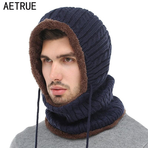 AETRUE Knitted Wool Hood