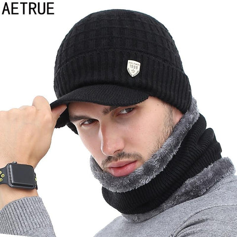 AETRUE Warm Wool Knitted Cap