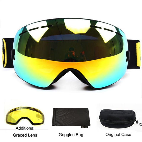 BE NICE Anti Fog Ski Goggles - Frameless