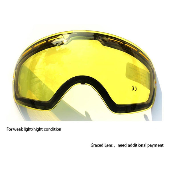 COPOZZ Double Brightening Lens for Ski Snowboard Goggles (For Gog-201)