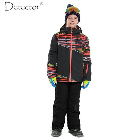 DETECTOR Outdoor Boys Ski Set - Kinder
